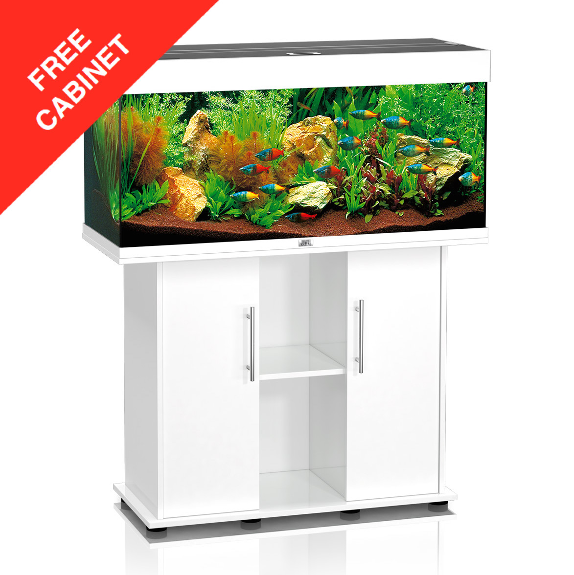 aquarium products juwel rio 180 white set. Black Bedroom Furniture Sets. Home Design Ideas