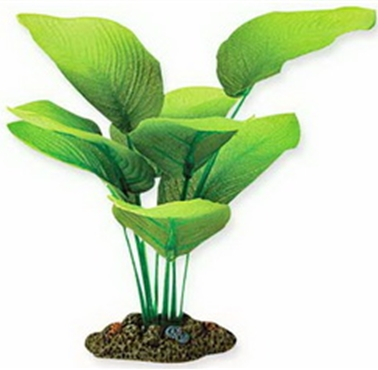 Aquarium decoration aqua one silk plant sword radicans for Fake pond plants